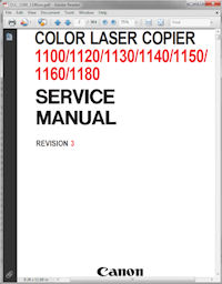 Canon Color Laser Copier 1120 Service Manual Rev. 3 Picture