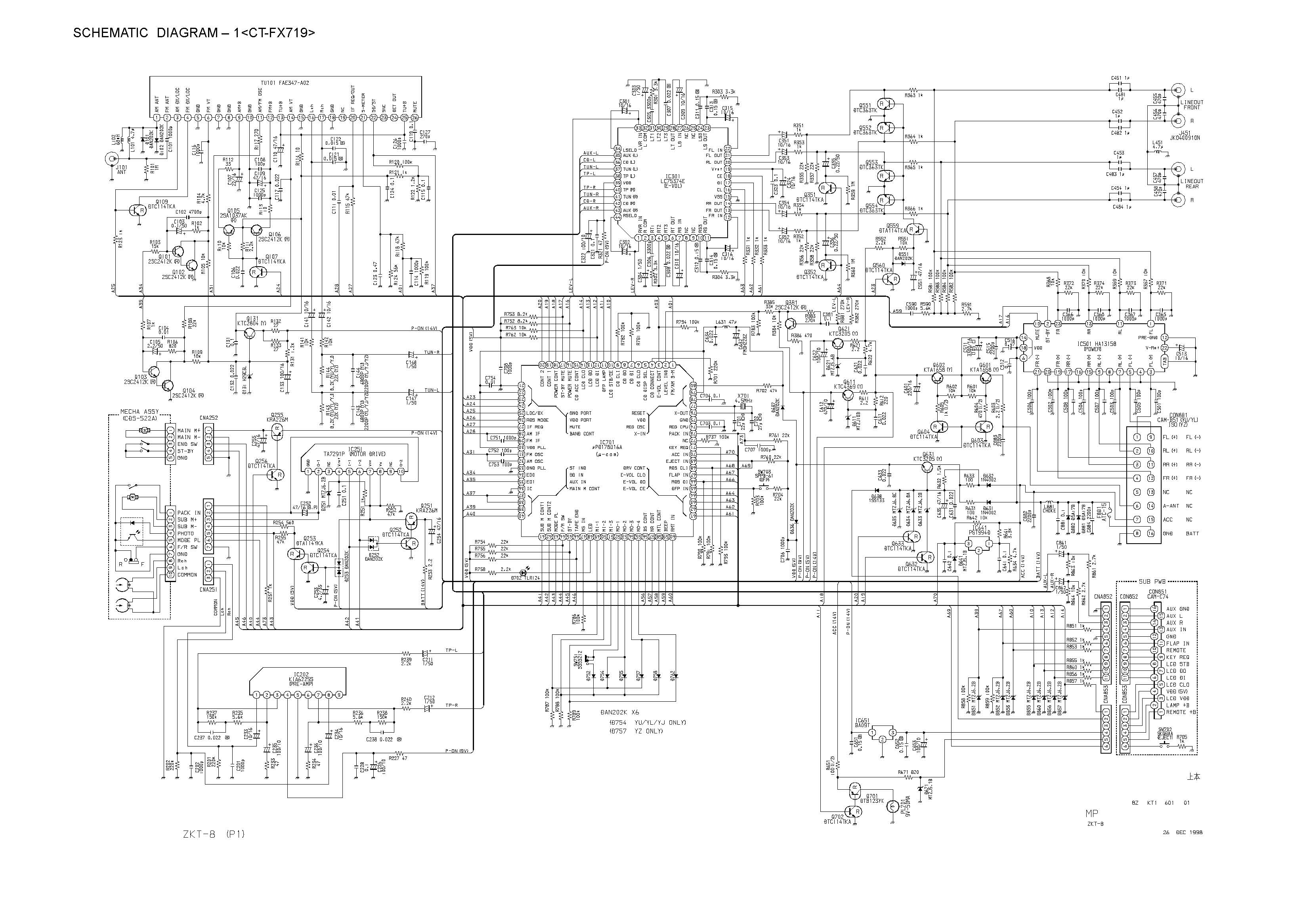 Aiwa Tv Circuit Diagram Wiring And Hub Color Television Se141 Type K Eg Schematic Ct Fx719 Main Front In Pdf Format E Rh Servicemanuals Com Block Am Radio