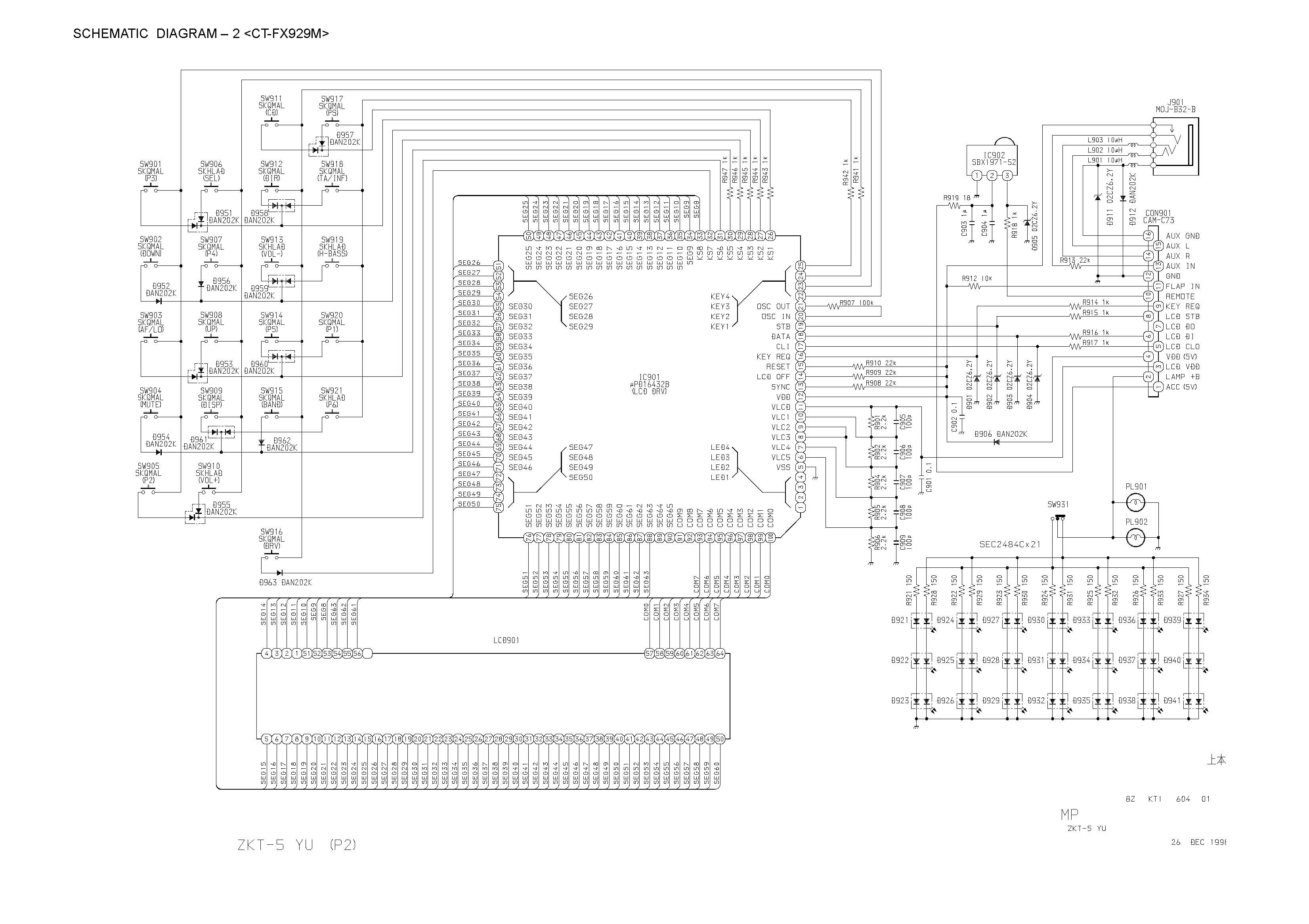 aiwa ct-fx719 schematic diagram  main    front  in pdf format