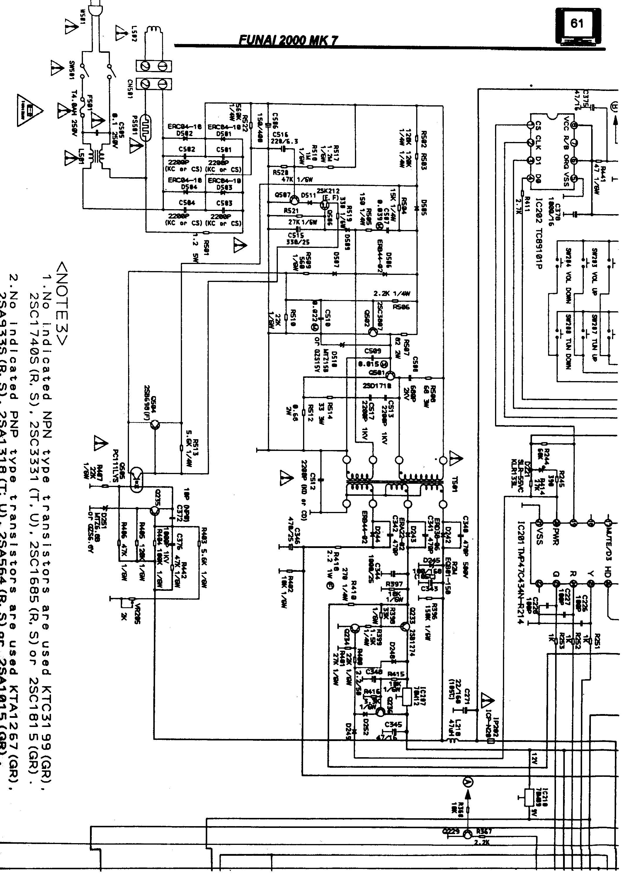 funai 2000 mk 7 schematic diagram in pdf format