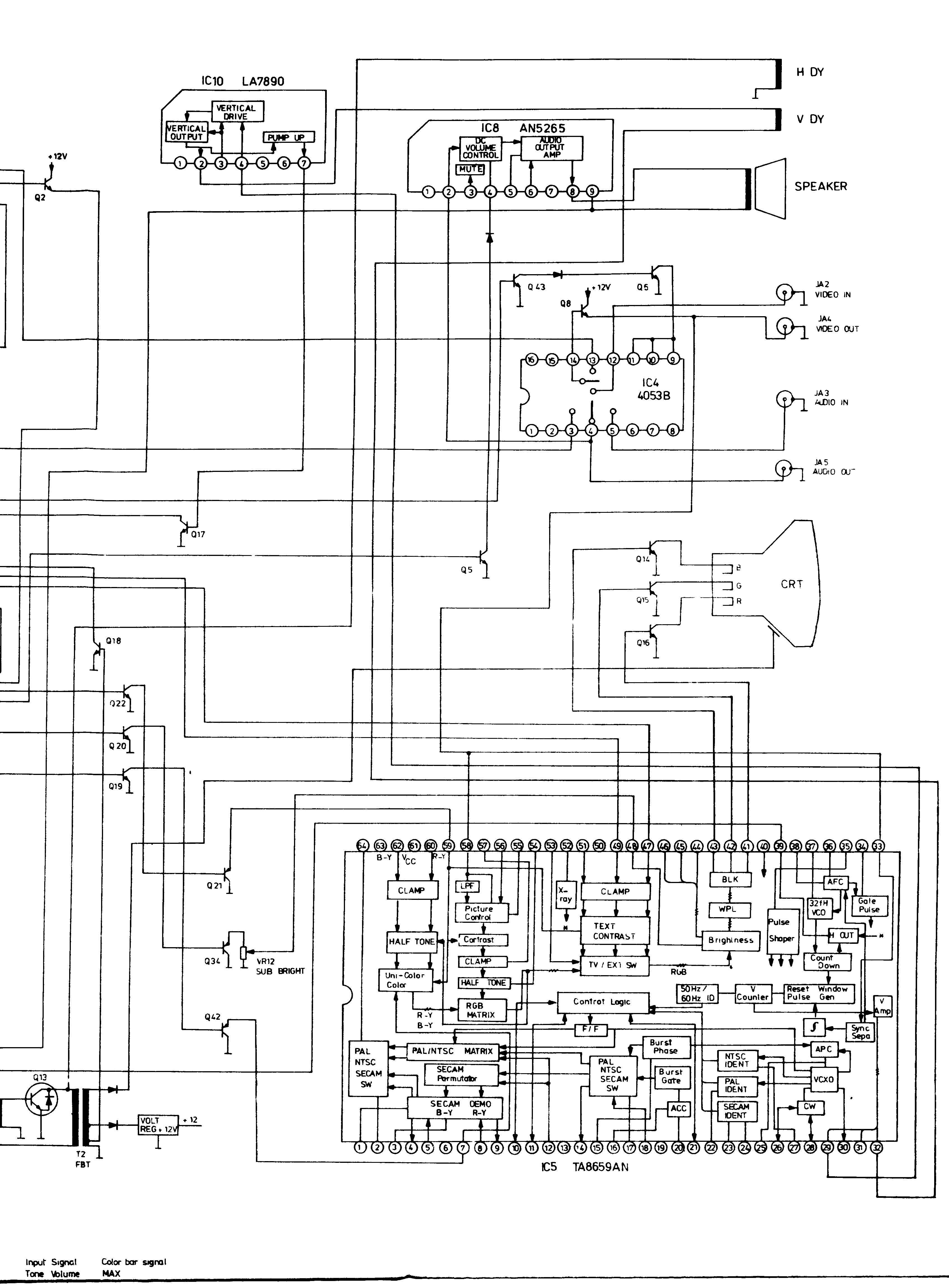 Funai Tv-2003 Schematic Diagram In Pdf Format